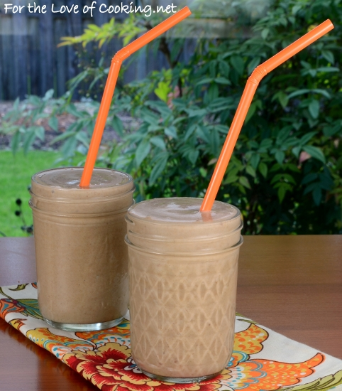 Banana, Chocolate, and Peanut Butter Milkshake