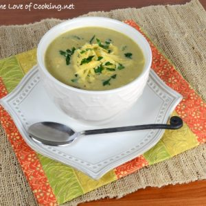 Roasted Broccoli & Cauliflower Cheese Soup