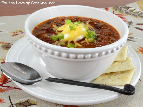 Beef and Bean Chipotle Chili | For the Love of Cooking