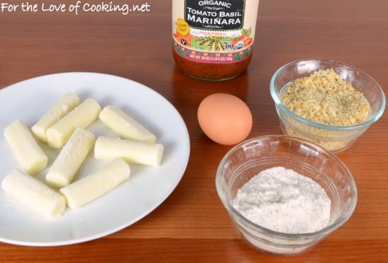 how to cook mozzarella sticks in oven