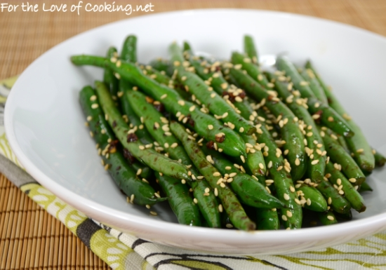Sesame-Soy Green Bean Sauté | For the Love of Cooking