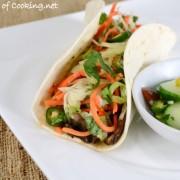 Asian Portobello Tacos