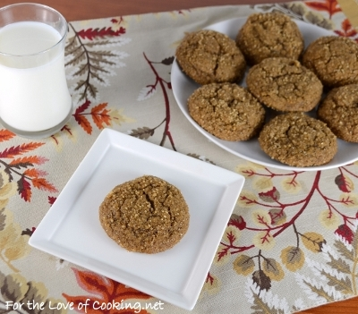Soft Pumpkin Ginger Snap Cookies