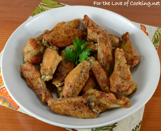 Baked Salt and Pepper Chicken Wings | For the Love of Cooking
