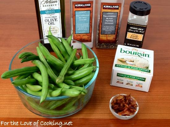 Bacon Boursin Green Beans