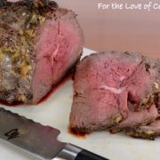 Slow-Roasted Roast Beef with Mustard, Garlic, and Thyme