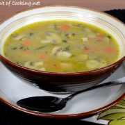 Chicken, Mushroom, and Rice Soup
