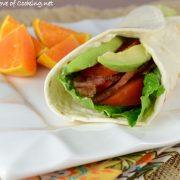 BLTA (Bacon, Lettuce, Tomato, Avocado) Wrap