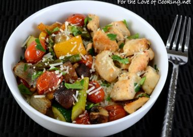 Chicken and Roasted Vegetable Rice Bowl