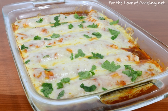 Bean and Cheese Enchiladas with Homemade Enchilada Sauce