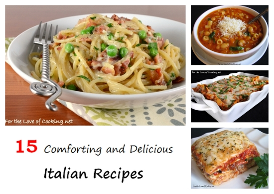 Parade's Community Table ~ 15 Comforting and Delicious Italian Recipes