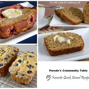 Parade's Community Table ~ 10 Favorite Quick Bread Recipes