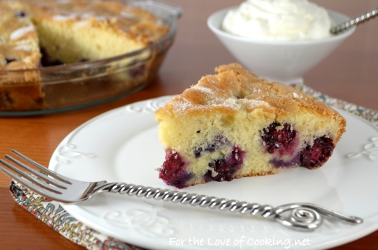 Berry Cake with Lemon Whipped Cream