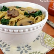 Mushroom, Spinach, and Garlic Noodles