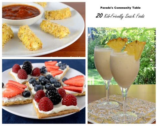 Parade?s Community Table ~ 20 Kid-Friendly Snack Foods That Are Sure To Put A Smile On Their Faces!