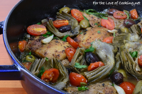 Tuscan Chicken with Artichokes, Tomatoes, and Olives | For the Love of ...