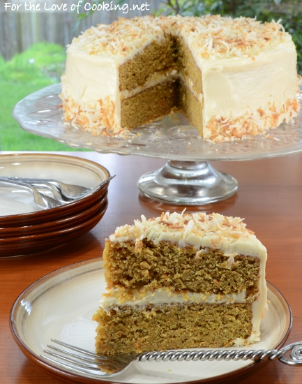 Carrot Cake with Brown Butter Cream Cheese Frosting | For the Love of ...