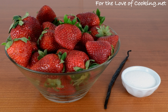 Roasted Strawberries with Vanilla Bean