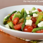 Asparagus, Tomato, Avocado Salad with Feta