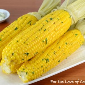 Oven Roasted Corn on the Cob with Garlic Butter