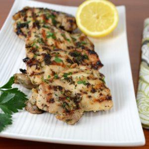Herb, Lemon, and Garlic Chicken Thighs