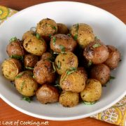 Roasted Baby Potatoes with Herbs