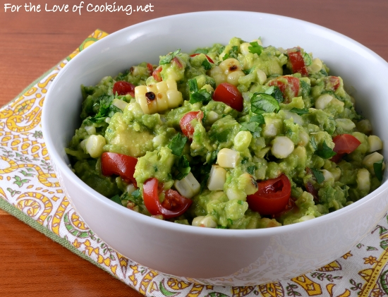 Grilled Corn Guacamole | For the Love of Cooking