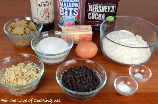 Mini Rocky Road Cookies