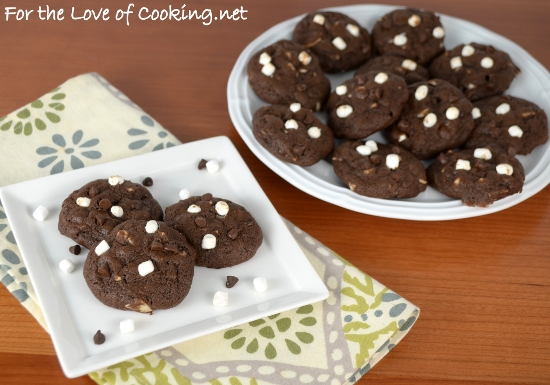 Mini Rocky Road Cookies | For the Love of Cooking
