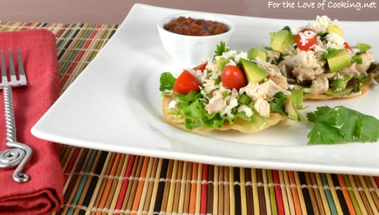 Mini Chicken Tostadas with Avocado
