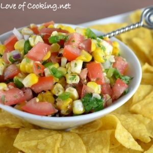Grilled Corn Pico De Gallo
