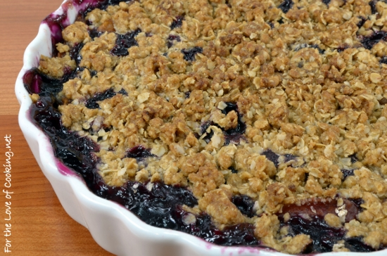 Nectarine and Blueberry Crisp | For the Love of Cooking