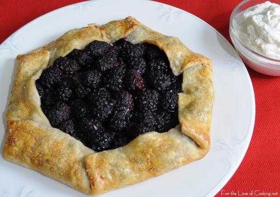 Blackberry Galette with Homemade Vanilla Whipped Cream
