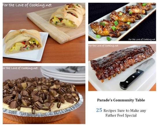 Parade's Community Table ~ 25 Recipes Sure to Make any Father Feel ...