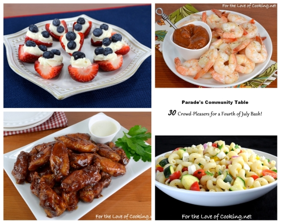 Parade's Community Table ~ 30 Crowd-Pleasers for A Fourth of July Bash!