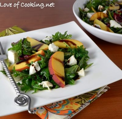 Peach and Burrata Salad