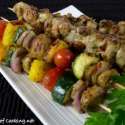 Pesto Chicken and Vegetable Kebabs