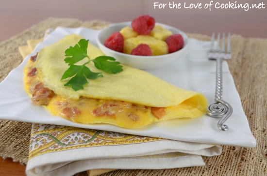 Sharp Cheddar and Bacon Omelette