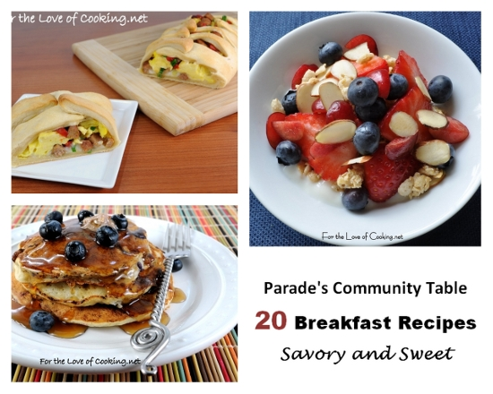 Parade's Community Table ~ 20 Savory and Sweet Breakfasts
