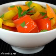 Pan Roasted Bell Peppers with Garlic and Thyme
