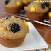 Peach, Blackberry, and Banana Muffins
