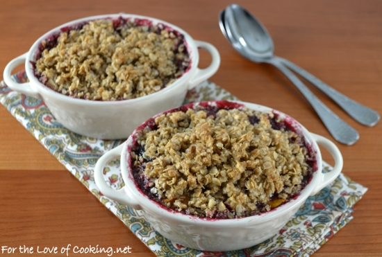 Blackberry, Peach, and Plum Crisp