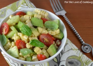 Corn, Avocado, Tomato, and Basil Salad