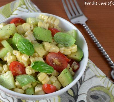 Corn, Avocado, Tomato, and Basil Salad