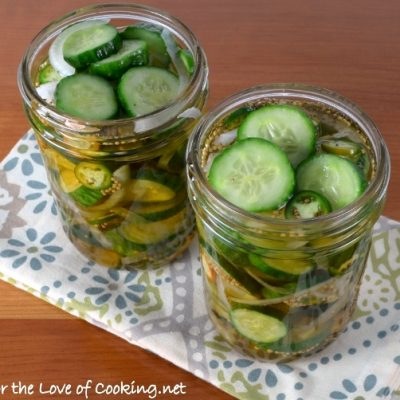 Spicy Bread and Butter Pickles
