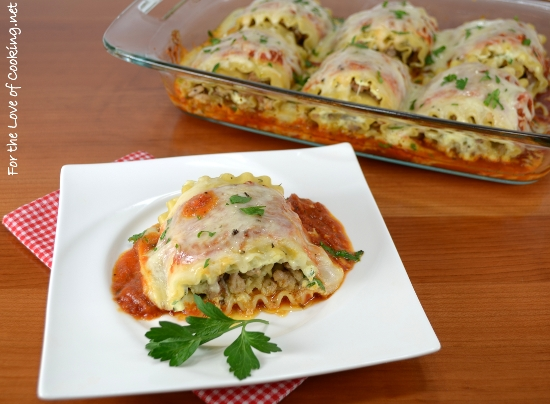 Chicken and Sausage Lasagna Roll-Ups