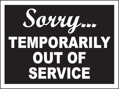 Temporarily Out of Service   For the Love of Cooking