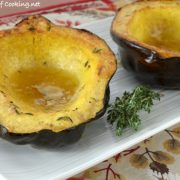 Honey Roasted Acorn Squash with Thyme