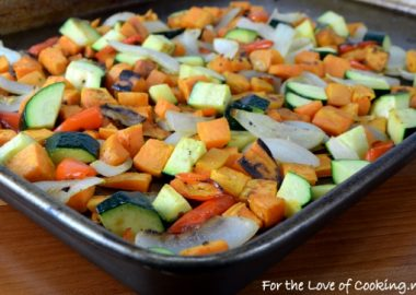 Roasted Sweet Potatoes and Vegetables