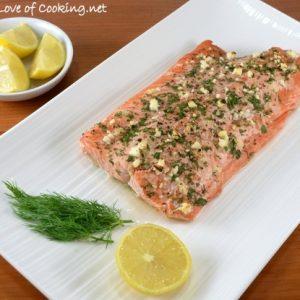 Fresh Herb and Feta Crusted Salmon